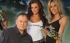 Bob Parsons with GoDaddy girls