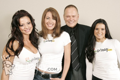 Bob Parsons with GoDaddy.com Super Bowl Commericals Team